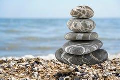 Balanced stones on the seaside Stock Image