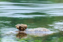 Balanced stones on Water stream Stock Image