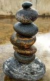 Balanced stones. These are the stones which i brought from the sides of River alaknanda stock photos