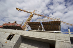 Balanced Towr Construction Crane Installed Foundation Building A Royalty Free Stock Images
