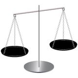 Balanced weight scale. Vector image of balanced weight scale Stock Image