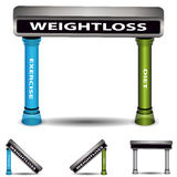 Balanced Weightloss Plan Chart Stock Photos