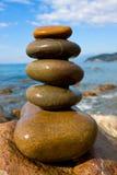 Balanced wet stones Stock Image