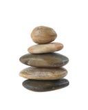 Balanced zen stones in pyramid Royalty Free Stock Photo