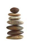 Balanced zen stones in pyramid Royalty Free Stock Photos