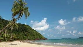 Balancee en la playa, isla de KOH-Chang, Tailandia almacen de video