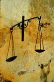 Balancenikone von Gerechtigkeit Lizenzfreies Stockfoto