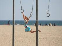 Balanceo de la muchacha Imagen de archivo libre de regalías