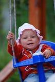Balanceo del bebé Imágenes de archivo libres de regalías