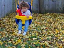 Balanceo en el patio trasero Imagen de archivo libre de regalías