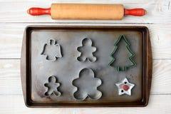 Balanceo Pin Cookie Cutters Fotografía de archivo