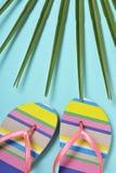 Balanceos rayado-modelados coloridos Fotografía de archivo