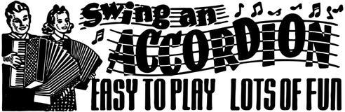 Balancez un accordéon illustration libre de droits
