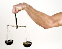 Balancieren Sie das Geld Stockbild