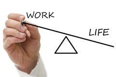 Balancierende Arbeit und Privatleben Lizenzfreies Stockbild