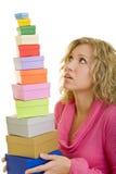 Balancierende Geschenke Stockbild