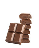 Balancierende Schokolade lizenzfreie stockbilder