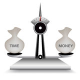 Balancierende Zeit und Geld Lizenzfreies Stockfoto