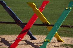 Balancines brillantemente coloreados. Fotografía de archivo libre de regalías