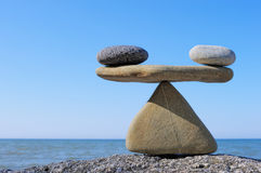 Balancing. Composition is made of stones as weights stock photos
