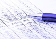 Balancing the accounts Stock Image
