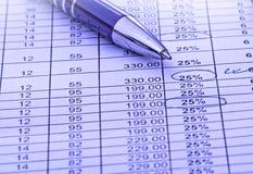 Balancing the accounts Royalty Free Stock Photo