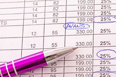 Balancing the accounts Stock Photography
