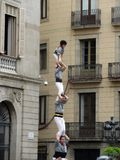 balancing act in Barcelona royalty free stock photography