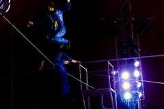 Balancing in the air Stock Photos