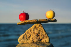 Balancing of apples Royalty Free Stock Photo
