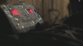 Balancing of automobile wheels. Closeup stock video footage