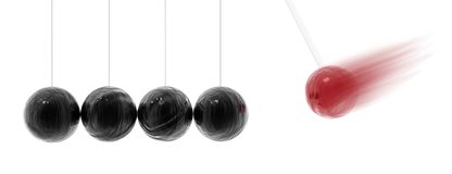 Balancing balls Royalty Free Stock Images