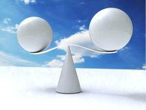 Balancing balls on cone Royalty Free Stock Photos