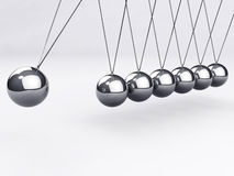 Balancing balls, Newton's cradle Royalty Free Stock Photo