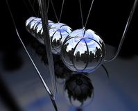 Balancing balls Newton's cradle Stock Photos