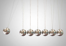 Balancing balls Newton's cradle Royalty Free Stock Image