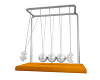 Balancing balls Newton's cradle. On a white background Stock Illustration