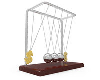 Balancing balls Newton's cradle. On a white background Vector Illustration