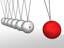 Balancing balls Newton's cradle. Concept business Royalty Free Stock Photography