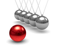 Balancing balls on white background Royalty Free Stock Photos