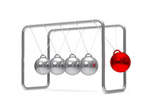 Balancing balls on white background Stock Photo