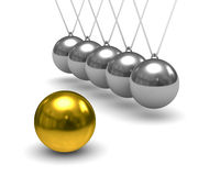 Balancing balls on white background. Isolated 3D Royalty Free Stock Photos
