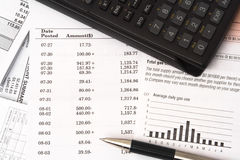 Balancing checkbook Royalty Free Stock Photography