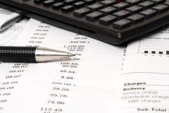 Balancing checkbook Stock Image