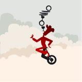 Balancing chef Stock Images