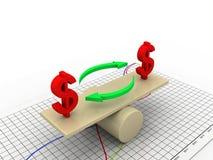 Balancing dollar Stock Photography