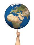 Balancing the earth stock illustration