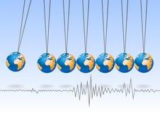 Balancing earth ball Royalty Free Stock Photo