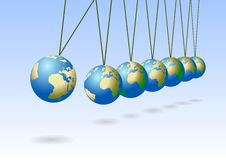 Free Balancing Earth Spheres Stock Image - 8853221