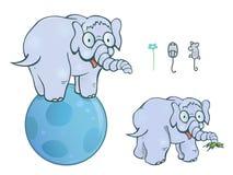 Balancing elephant stock illustration
